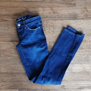 American Eagle Stretch Skinny Jeans Dark Wash 0